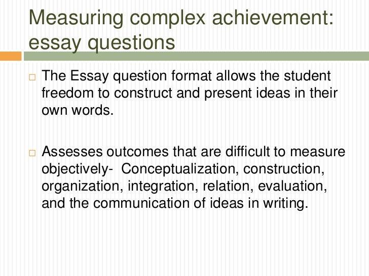 essay format questions