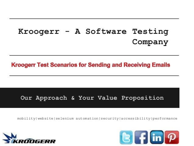 Kroogerr - A Software Testing                      Company Our Approach & Your Value Propositionmobility|website|selenium ...
