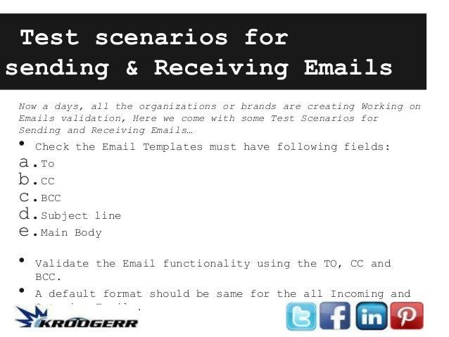 Test Scenarios For Sending Receiving Emails