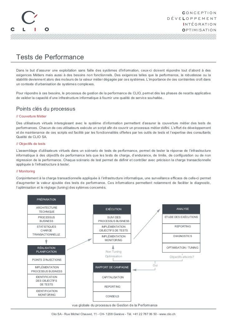 Tests de PerformanceDans le but d'assurer une exploitation sans faille des systèmes d'Information, ceux-ci doivent répondr...