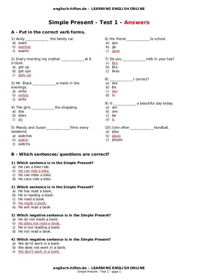 Englisch hilfen simple present englisch brief schreiben anfrage