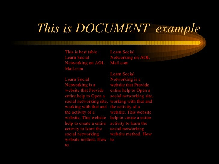 This is DOCUMENT  example