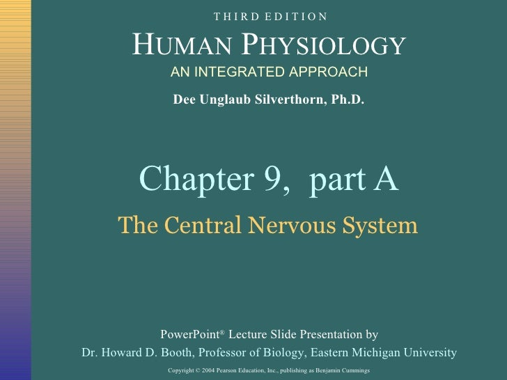 Chapter 9,  part A The Central Nervous System