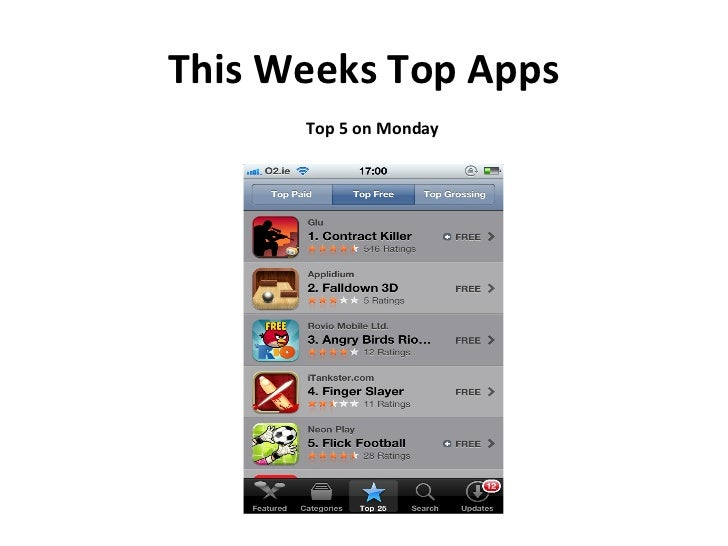 This Weeks Top Apps Top 5 on Monday