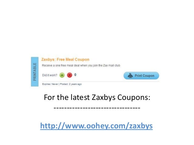picture relating to Zaxby's Coupons Printable identify Zaxbys Discount coupons Code March 2013 April 2013 May well 2013