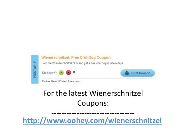 image about Wienerschnitzel Printable Coupons named Wienerschnitzel Coupon codes Code March 2013 April 2013 May possibly 2013