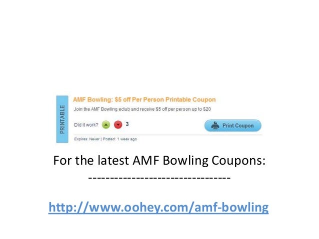 Amf discount coupons