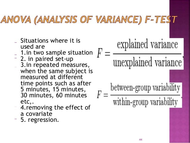Situations where it is  used are  1.in two sample situation  2. in paired set-up  3.in repeated measures,  when the same s...