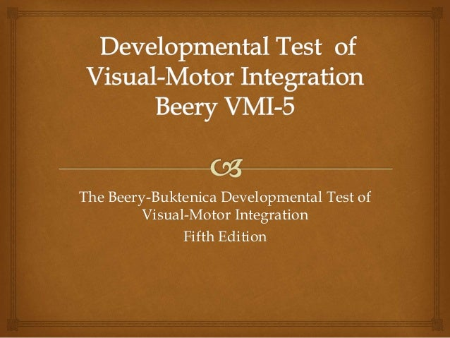 Visual Motor Integration Test