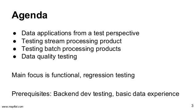 Test strategies for data processing pipelines Slide 3