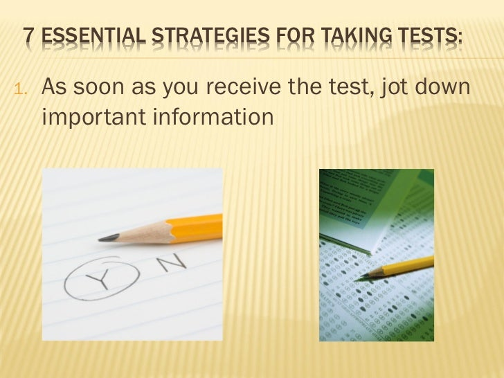 Test taking performance skills Slide 2