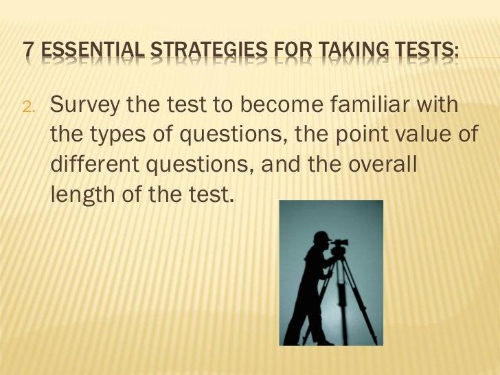 Test taking performance skills Slide 3