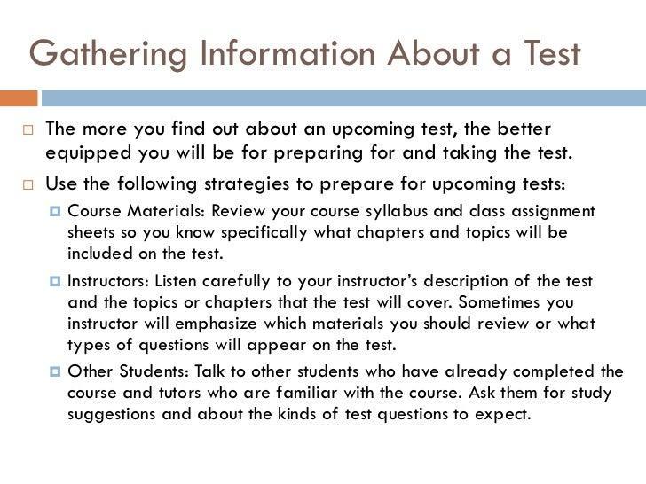 Test taking   preparation skills Slide 2