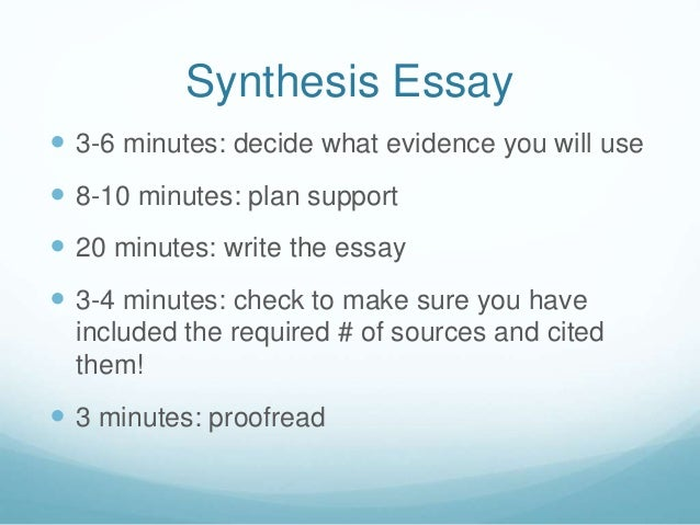 Ap english language synthesis essay help