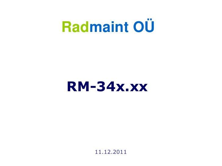 Radmaint OÜRM-34x.xx   11.12.2011