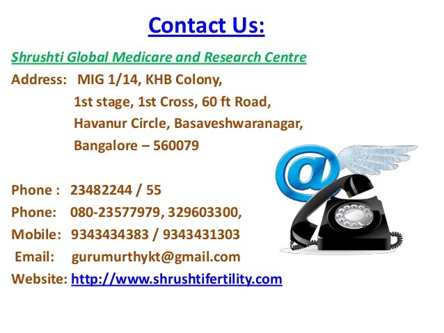 Contact Us: Shrushti Global Medicare and Research Centre Address: MIG 1/14, KHB Colony, 1st stage, 1st Cross, 60 ft Road, ...