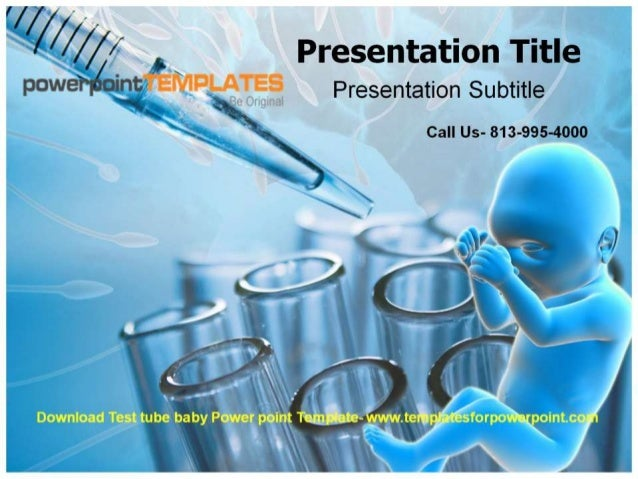 Test Tube Baby Powerpoint Template