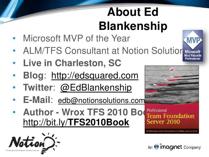 Full Testing Experience - Visual Studio and TFS 2010 Slide 2