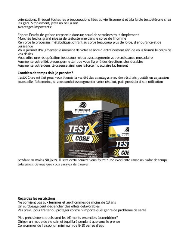 testx core review est ce un booster l 39 efficacit d 39 une fraude. Black Bedroom Furniture Sets. Home Design Ideas