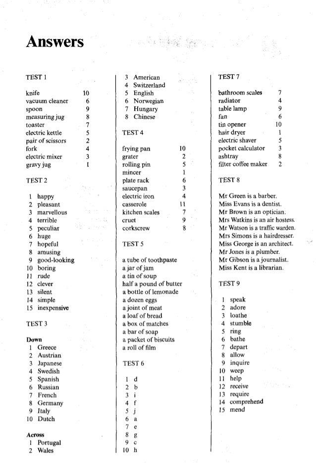 Test Your Vocabulary 1 Penguin English