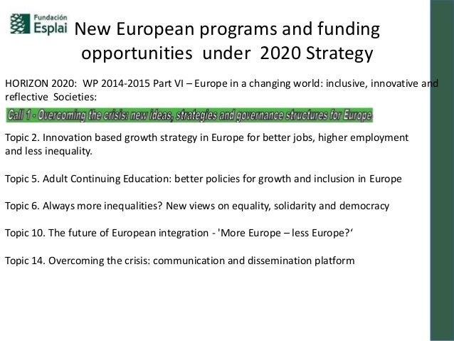 Te summit New European Programmes and funding opportunities under 202… e213524e6ca