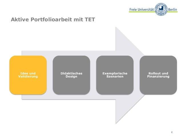 Aktive Portfolioarbeit mit dem Technology Enhanced Textbook Slide 2