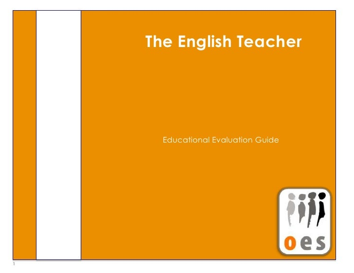 "Educational Evaluation GuideThe English Teacher 79489305384800<br />Theory and Fundamentals4191001066800""Learning objects ..."