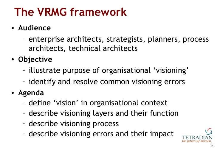 Vision, Role, Mission, Goal: a framework for business motivation Slide 2