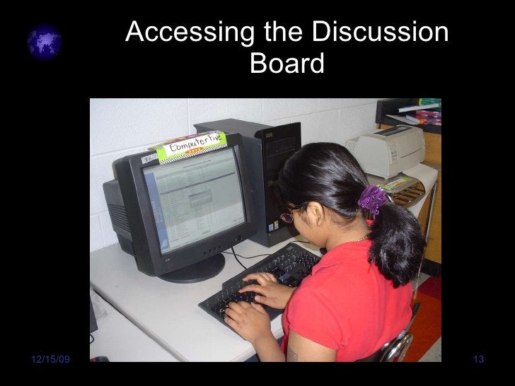 Accessing the Discussion Board