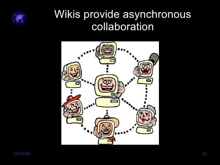 Wikis provide asynchronous collaboration