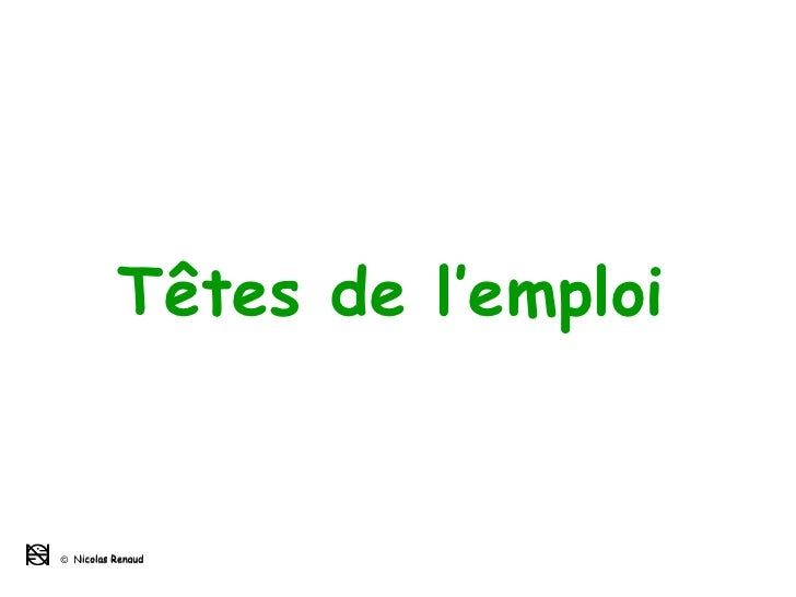 Têtes de l'emploi ©   Nicolas Renaud