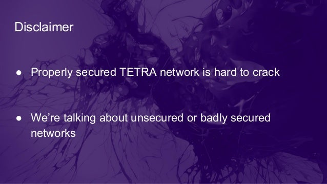 TETRA Networks Security