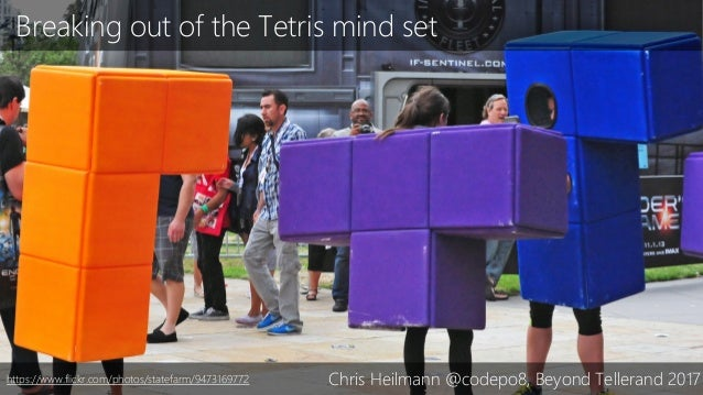 Breaking out of the Tetris mind set Chris Heilmann @codepo8, Beyond Tellerand 2017https://www.flickr.com/photos/statefarm/...