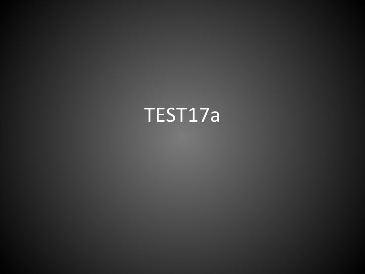 TEST17a