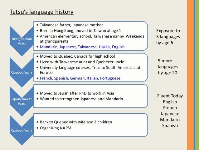 NAPS 2016 Tetsu Yung - Raising Multilingual Children Slide 3