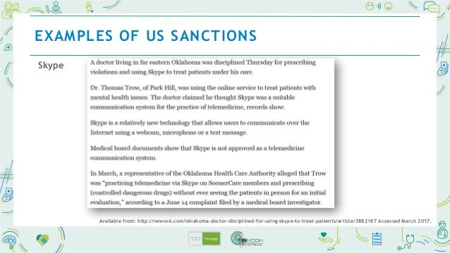 EXAMPLES OF US SANCTIONS Available from: http://archive.boston.com/lifestyle/health/articles/2011/04/20/for_doctors_social...