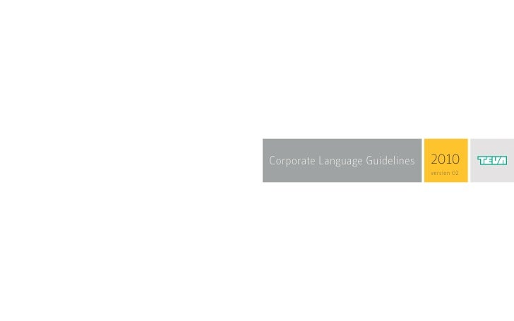 Corporate Language Guidelines   2010                                version 02                                             1