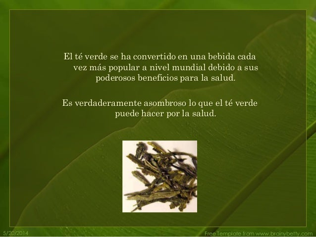 Teverde for Te verde beneficios para la salud