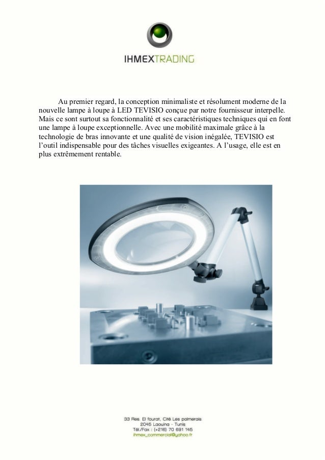 Au premier regard, la conception minimaliste et résolument moderne de la  nouvelle lampe à loupe à LED TEVISIO conçue par ...