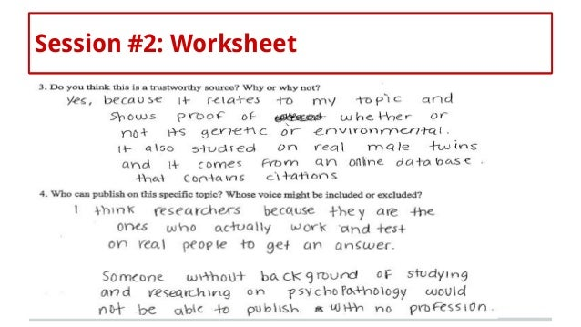 Teaching and unteaching authority evaluating sources in the critical – Reference Sources Worksheets