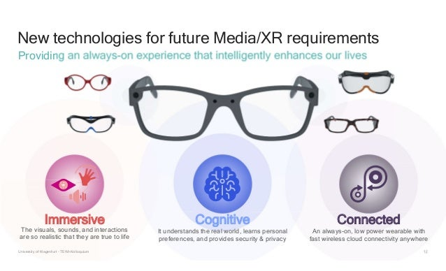 12 New technologies for future Media/XR requirements Providing an always-on experience that intelligently enhances our liv...