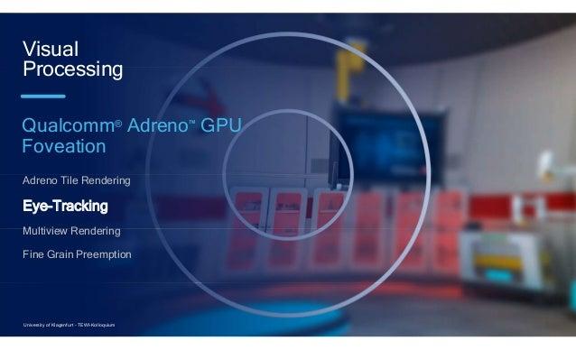 22 Adreno Tile Rendering Eye-Tracking Multiview Rendering Fine Grain Preemption Visual Processing Qualcomm® Adreno™ GPU Fo...