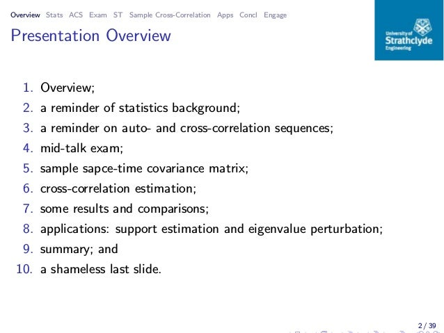 Estimating Space-Time Covariance from Finite Sample Sets Slide 2