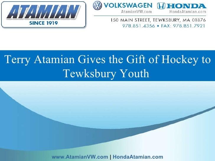 Terry Atamian Gives the Gift of Hockey to Tewksbury Youth  www.AtamianVW.com  |  HondaAtamian.com