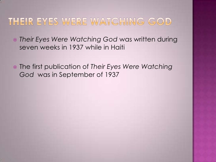 richard wrights analysis of the novel their eyes were watching god by zora neale hurston Their eyes were watching god was zora neale hurston's 2 nd novel written in 1936 and published in 1937 although it was often associated with the harlem renaissance and was criticized by many harlem renaissance writers, their eyes technically came after the movement which.
