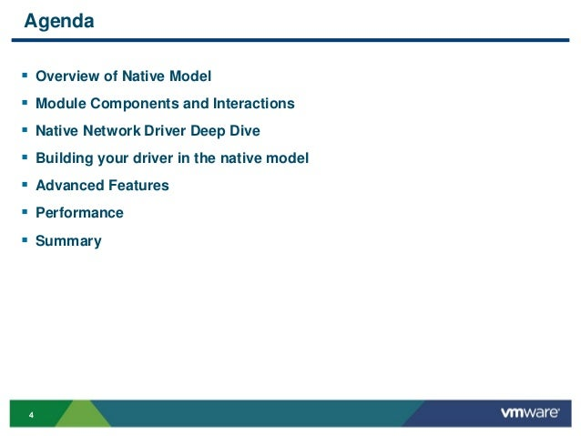 VMworld 2013: ESXi Native Networking Driver Model
