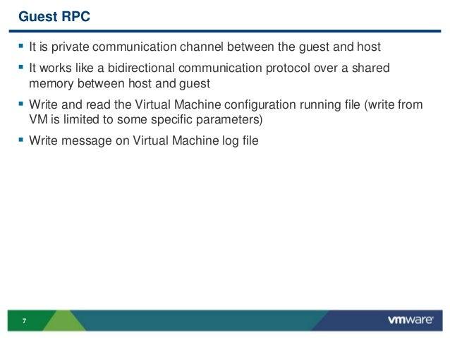 VMworld 2013: How to Exchange Status Message Between Guest and Host U…