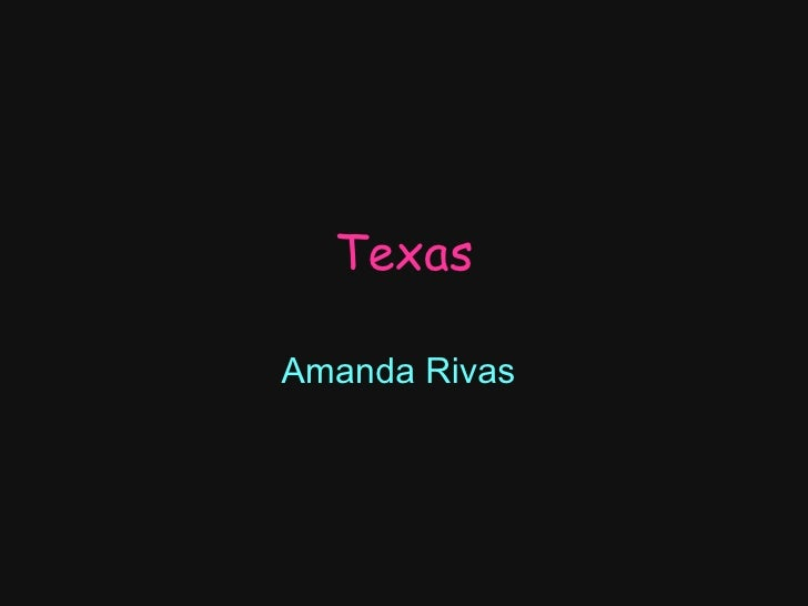 Texas Amanda Rivas