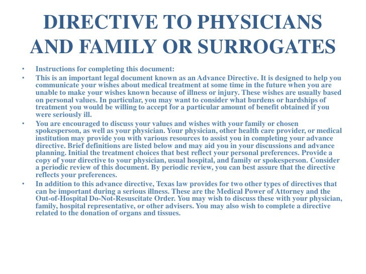 Texas Advance Directives: Advance Directive & Medical Power of Attor…