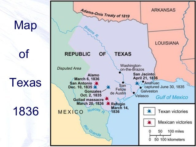 Map Of Texas During The Alamo.Texas As A State The Battle Of The Alamo